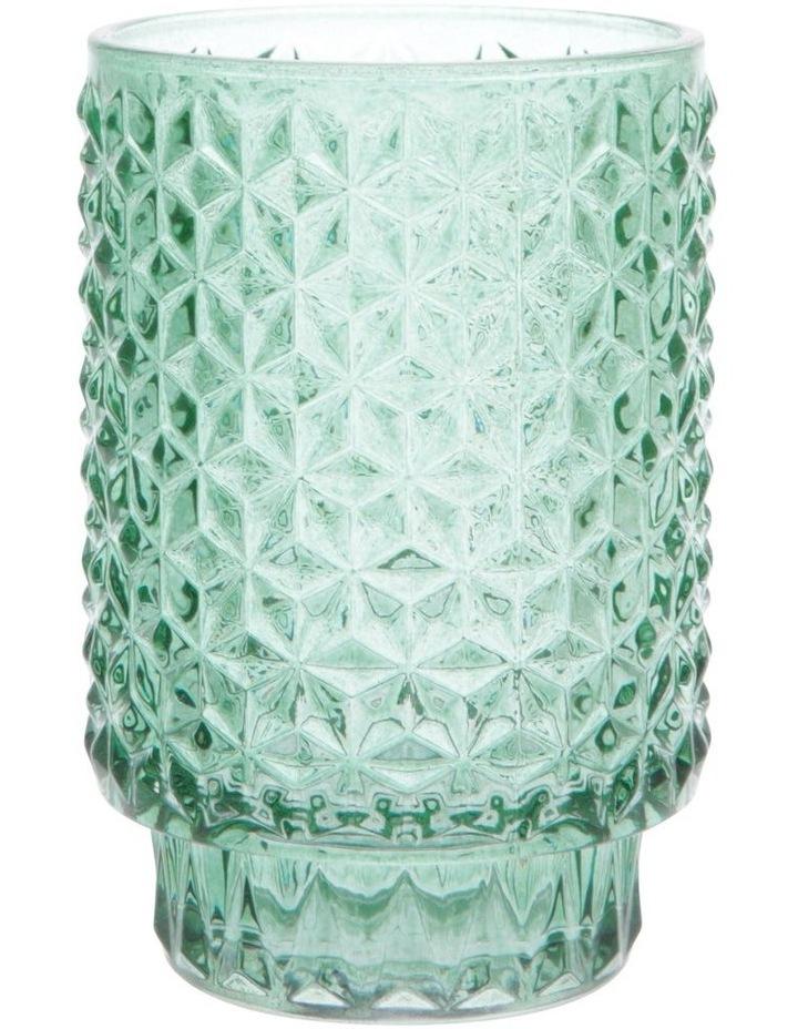 Cayman Turquoise Tea-Light Holder 13cm image 1