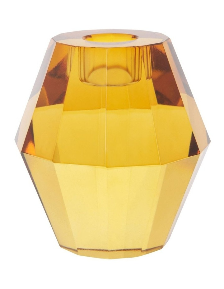 Montalto Amber Glass Candle Holder 9cm image 1