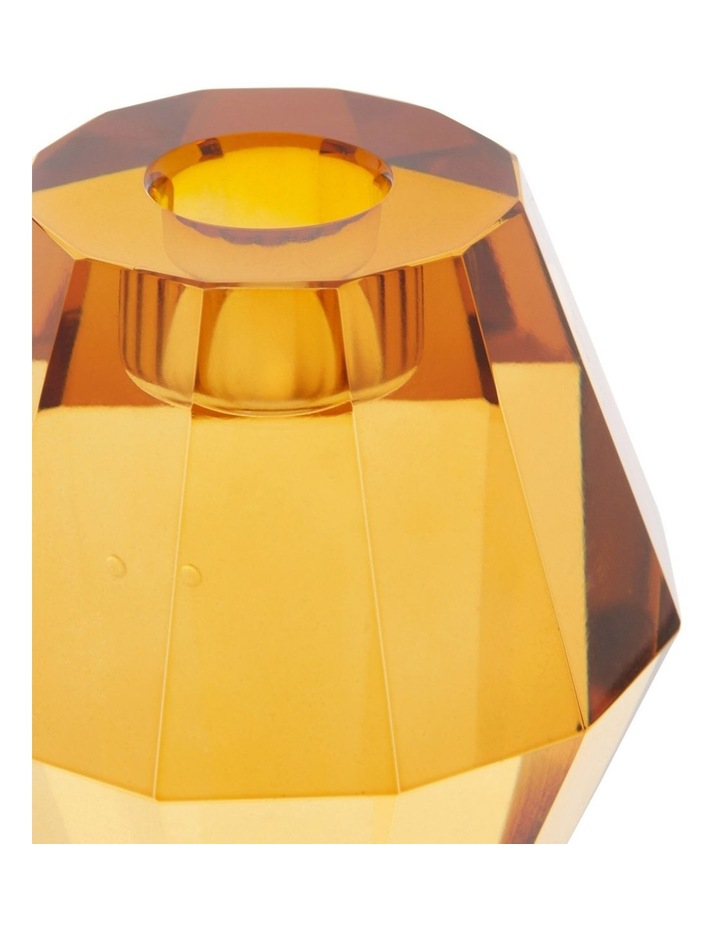 Montalto Amber Glass Candle Holder 9cm image 2