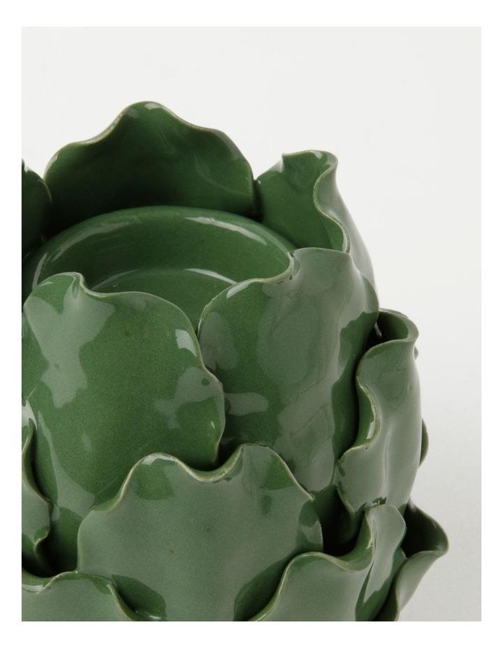 Heritage Artichoke 15cm Tealight Holder in Green image 2