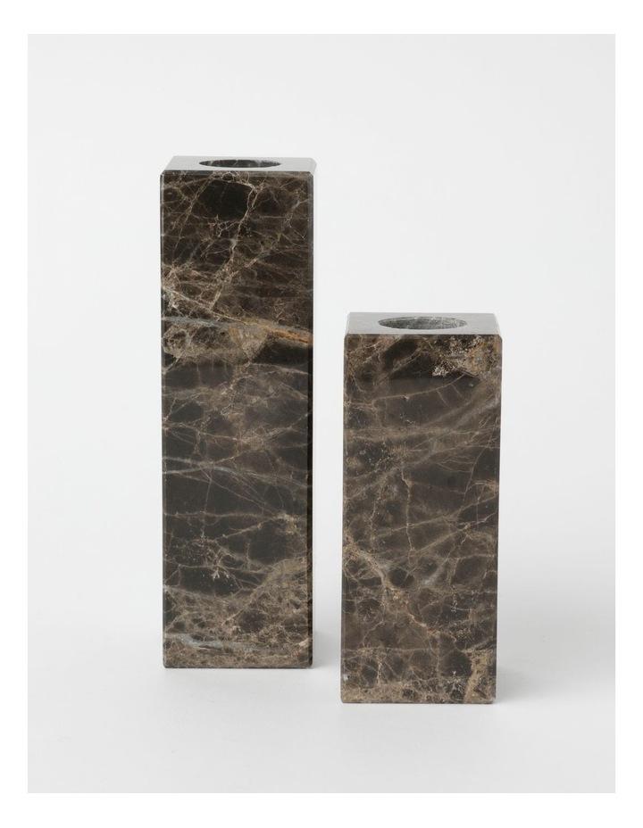 Darren Palmer Bohemic Marble Candle Holders Set of 2 image 1