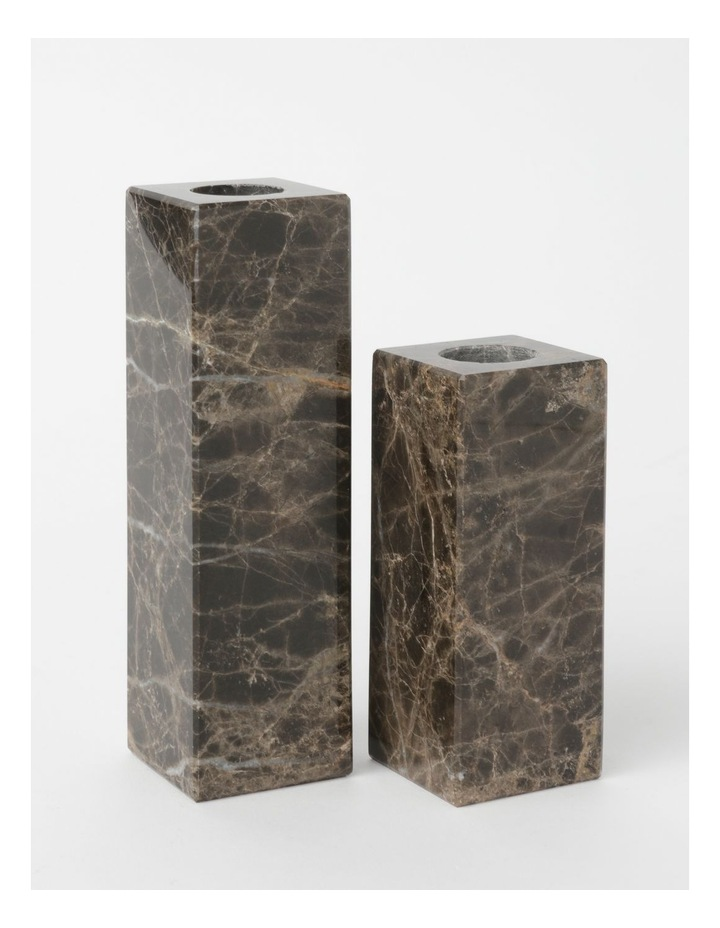 Darren Palmer Bohemic Marble Candle Holders Set of 2 image 2