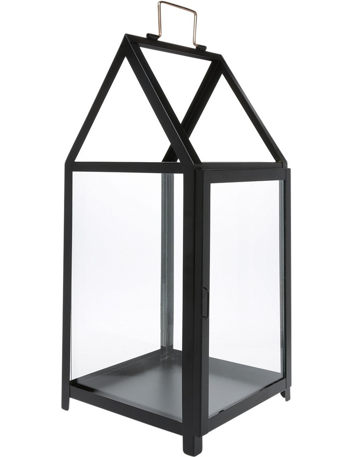 Glass Lantern with Black Iron Frame 50.5cm image 2