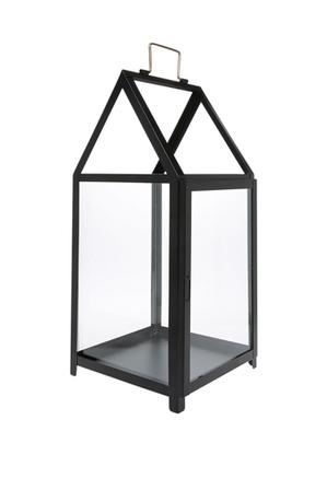 Heritage - Glass Lantern with Black Iron Frame 50.5cm