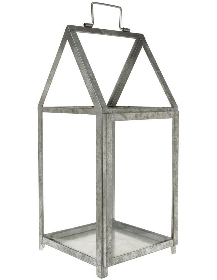 Glass Lantern with Galvanised Steel Frame 50.5cm image 1