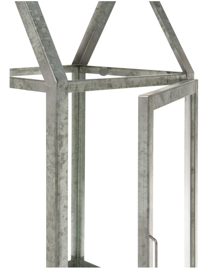 Glass Lantern with Galvanised Steel Frame 50.5cm image 2