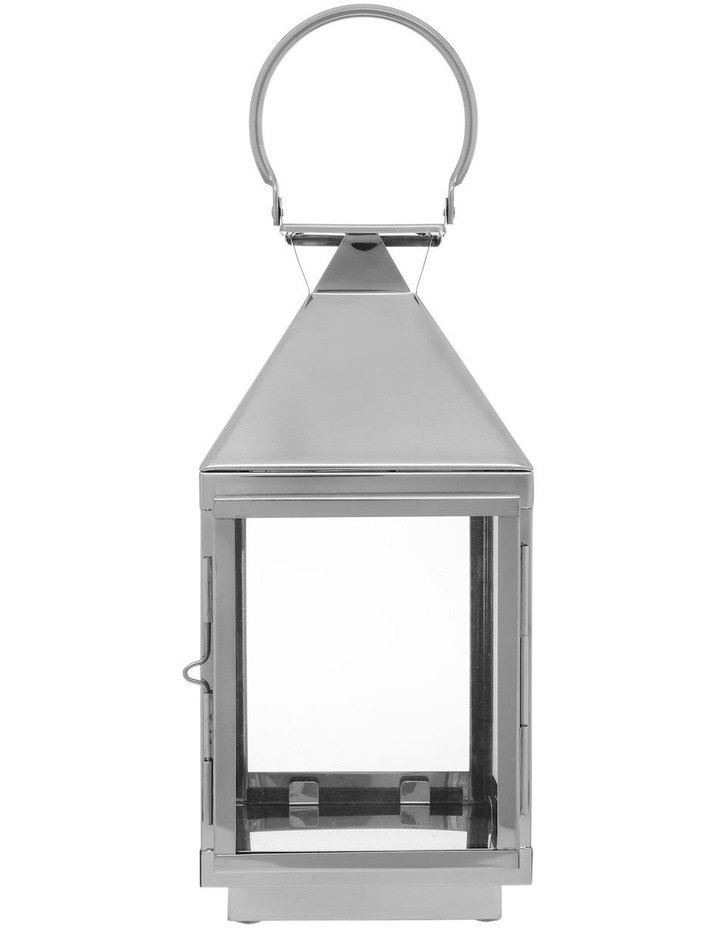 Stainless Steel & Glass Lantern 38cm image 1