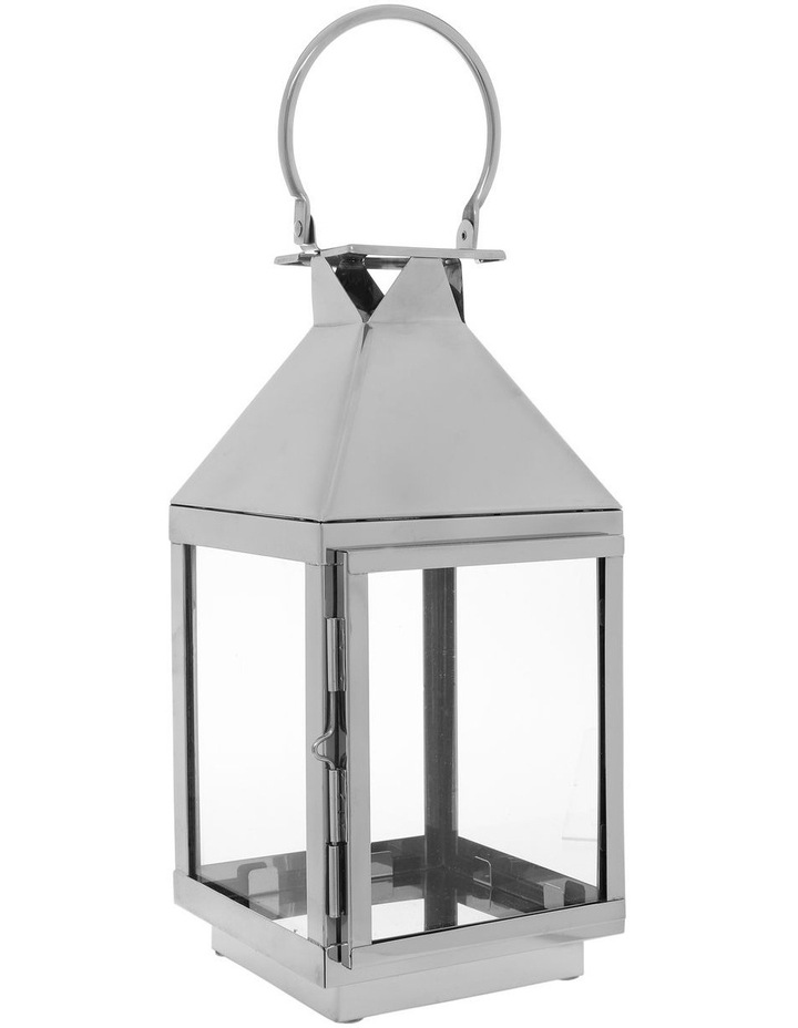Stainless Steel & Glass Lantern 38cm image 2