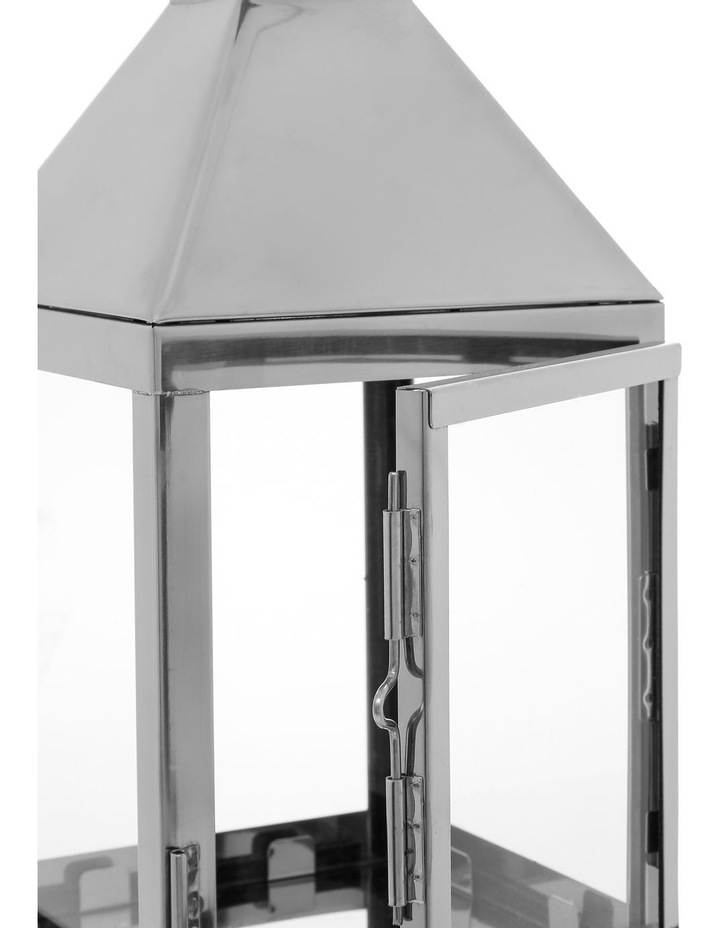 Stainless Steel & Glass Lantern 38cm image 3