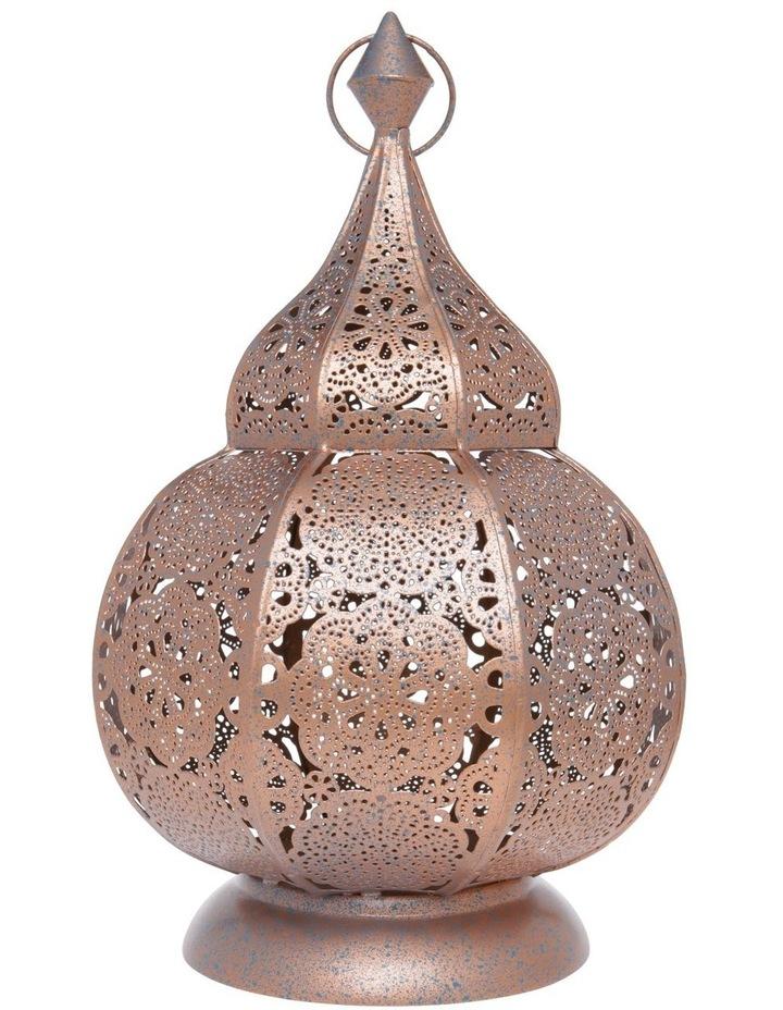 Moroccan Lace LED Lantern - 28cm image 1
