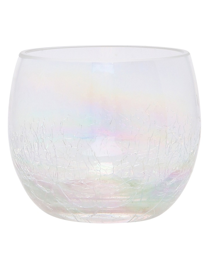 Ombre Luster Crackle Glass Votive 8.5x7.5cm image 1