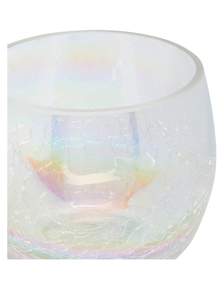 Ombre Luster Crackle Glass Votive 8.5x7.5cm image 2