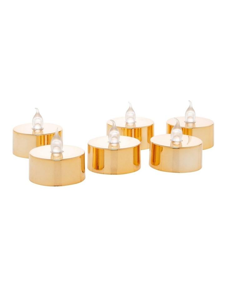 Metallic Flameless Tealight Candles image 1