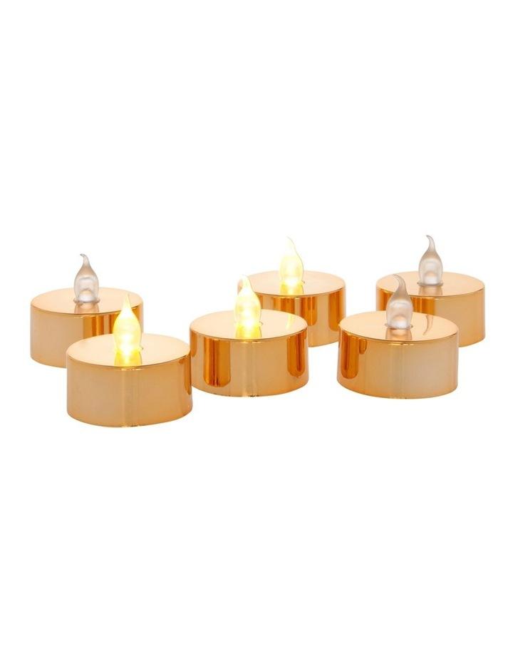 Metallic Flameless Tealight Candles image 2