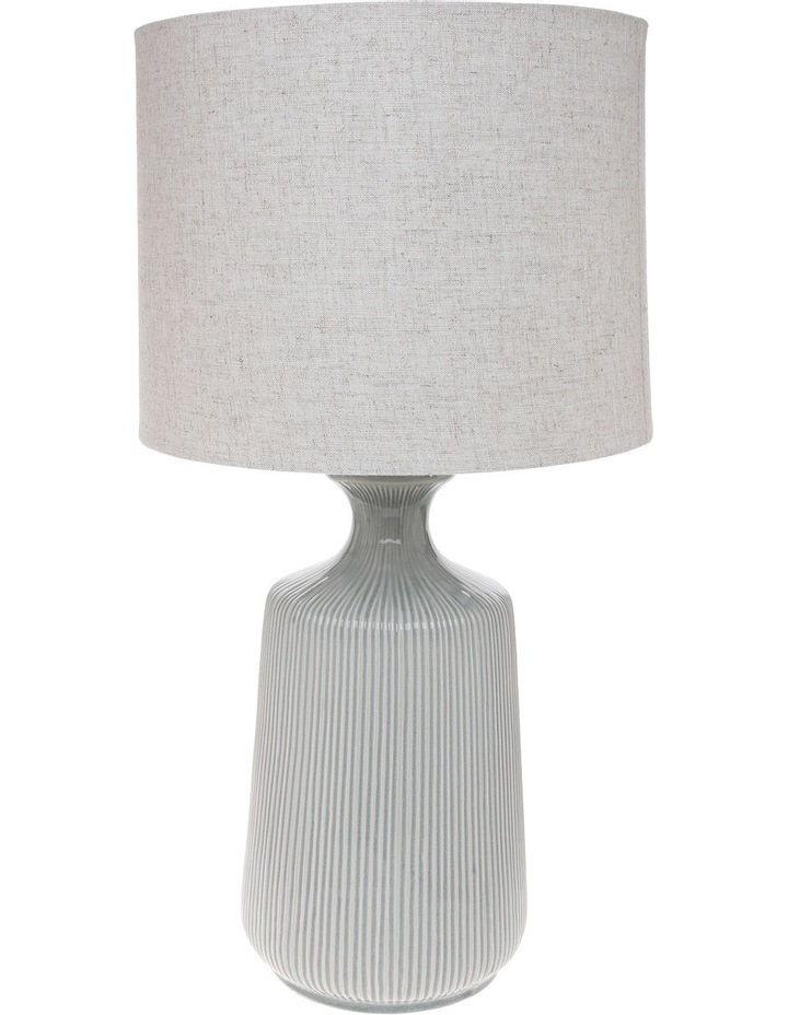 Oil Glazed Ceramic 70cm Lamp with Linen Shade image 1