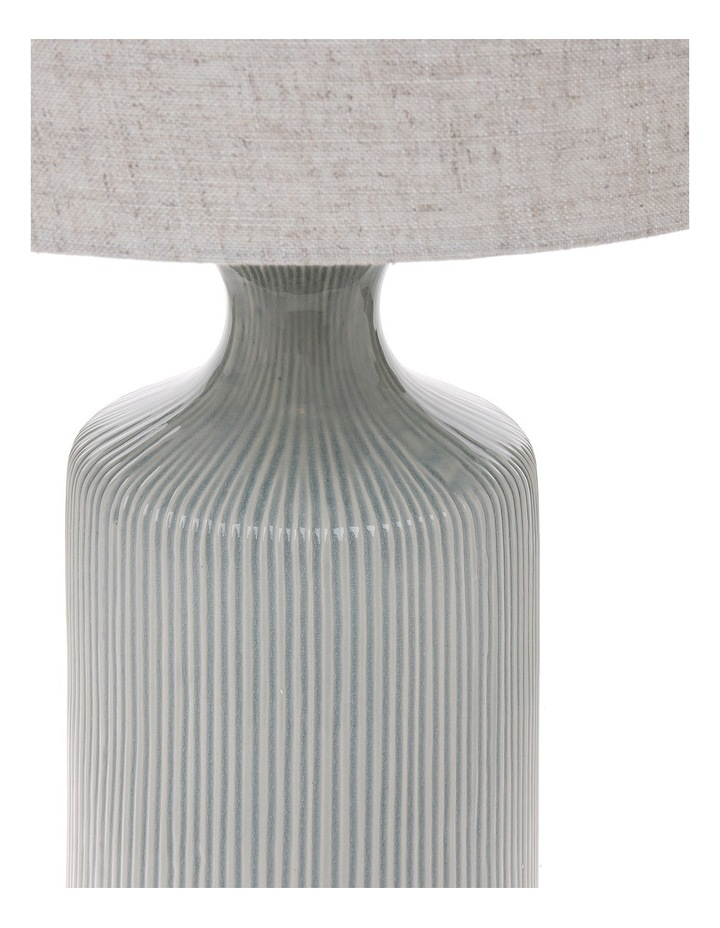 Oil Glazed Ceramic 70cm Lamp with Linen Shade image 2