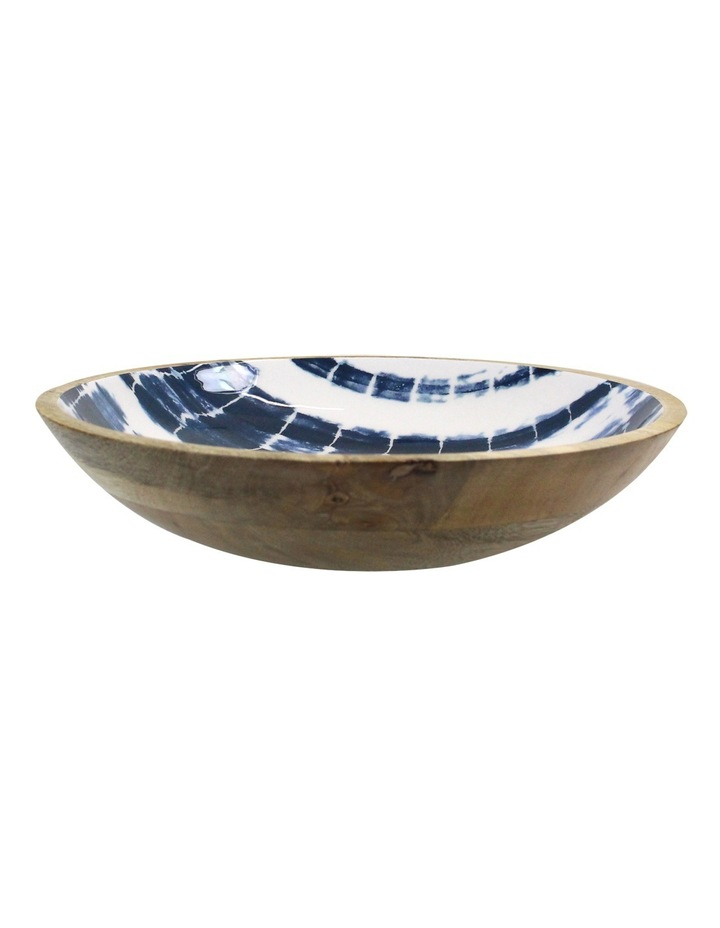 Tumby Bay Natural Wood and Enamel Shibori Decorative Bowl image 3