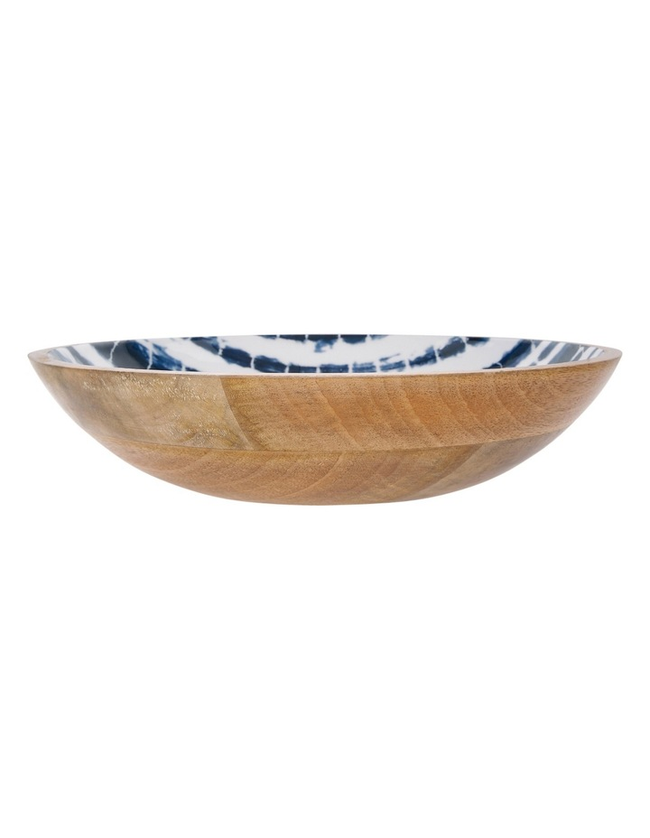 Tumby Bay Natural Wood and Enamel Shibori Decorative Bowl image 1