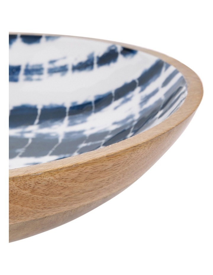 Tumby Bay Natural Wood and Enamel Shibori Decorative Bowl image 2