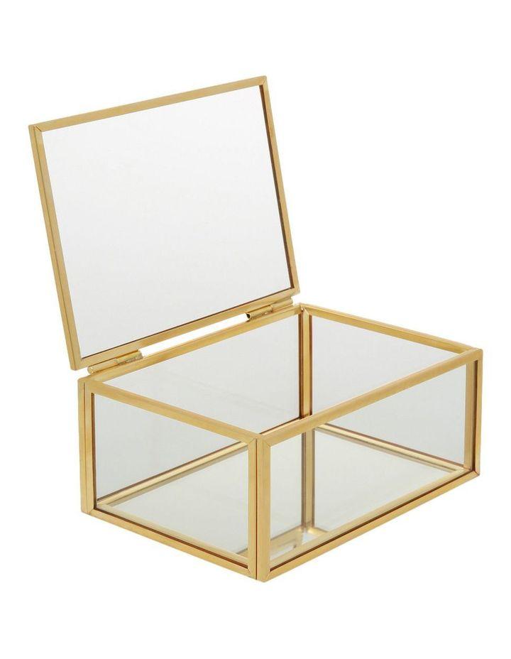 Glass with Metal Rim Storage Box image 2