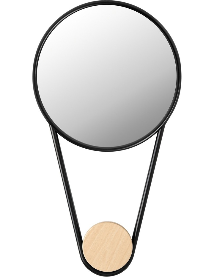 Decor Essentials Round Hook Mirror - Black image 1