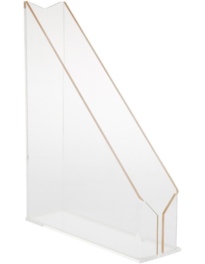Gold Edge Acrylic File Holder image 1