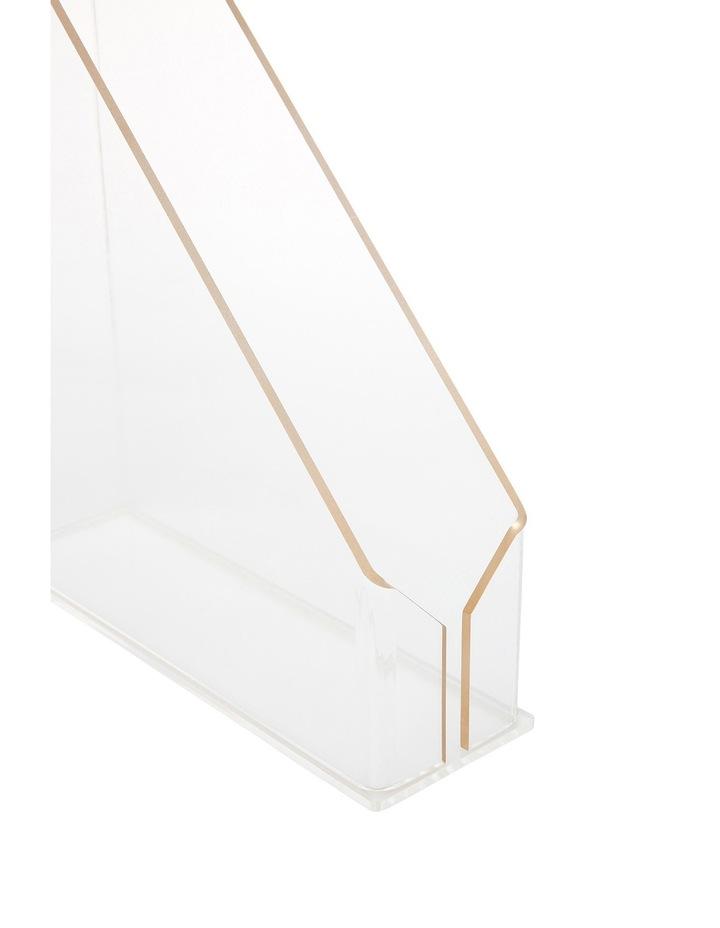 Gold Edge Acrylic File Holder image 3