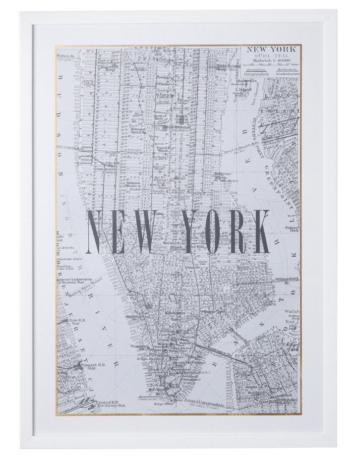 New York Framed City Map image 1