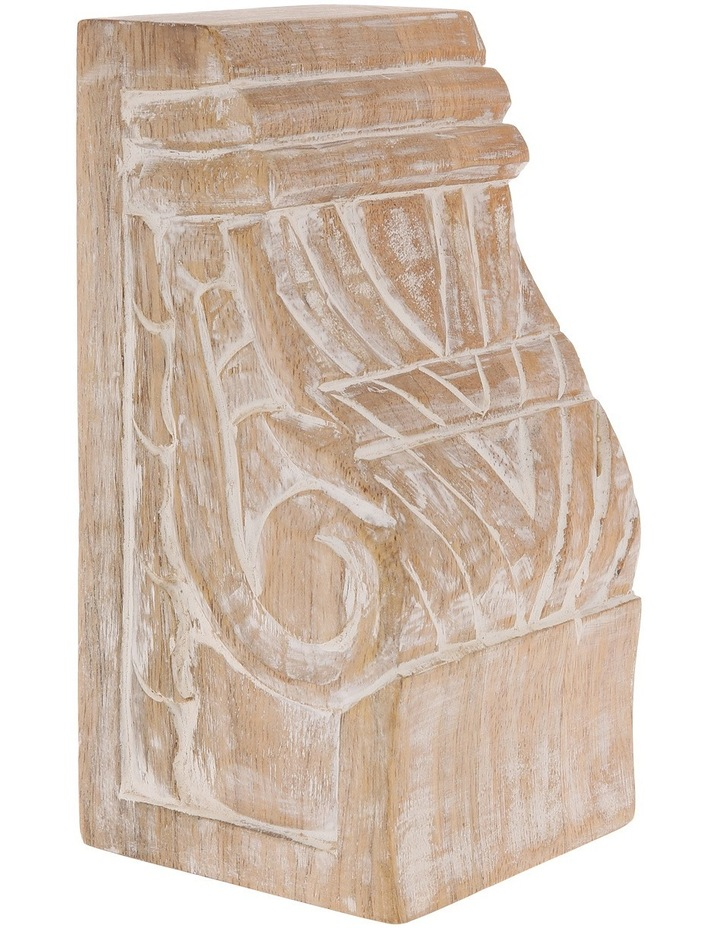 Hand Carved Wooden Bookend image 2