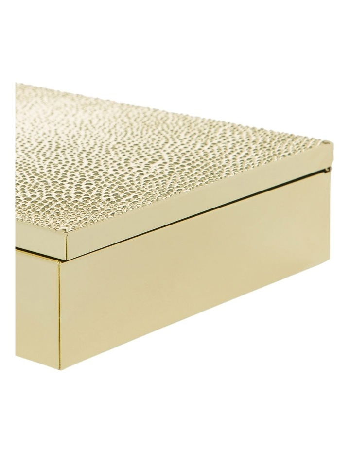 Gold Metal 20cm Box with Textured Lid image 3