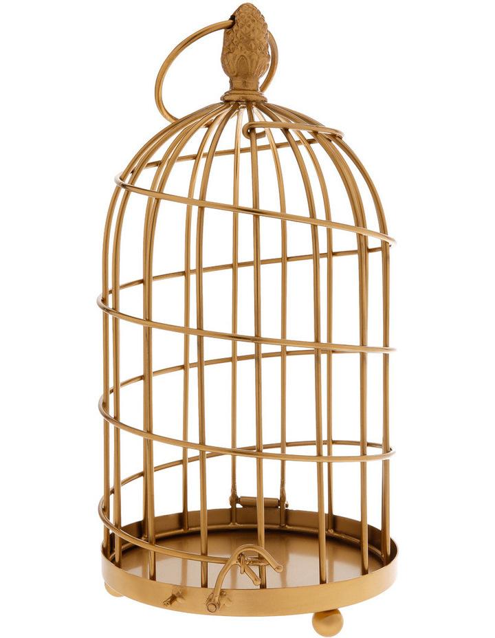 Ornamental 36cm Birdcage in Gold image 1