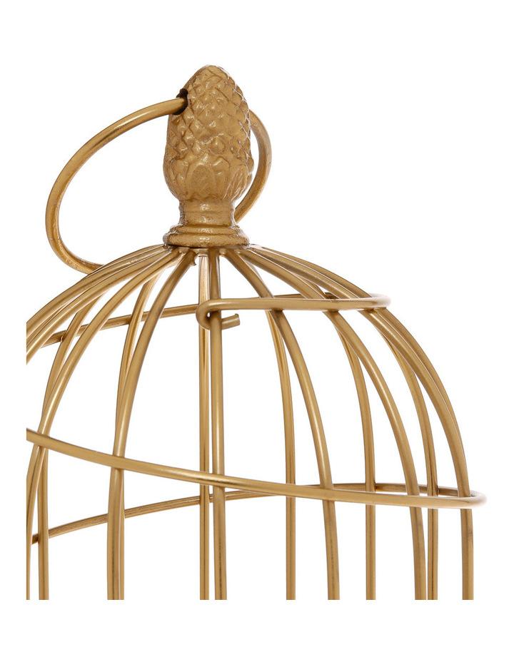 Ornamental 36cm Birdcage in Gold image 2