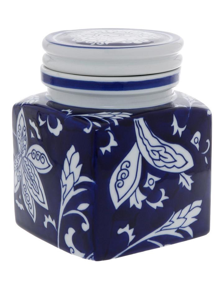 Heritage Porcelain Hand Painted Cannister Blue image 2