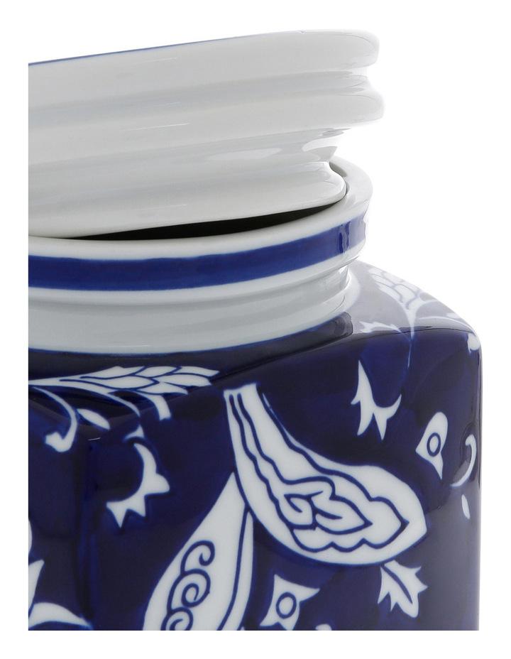 Heritage Porcelain Hand Painted Cannister Blue image 3