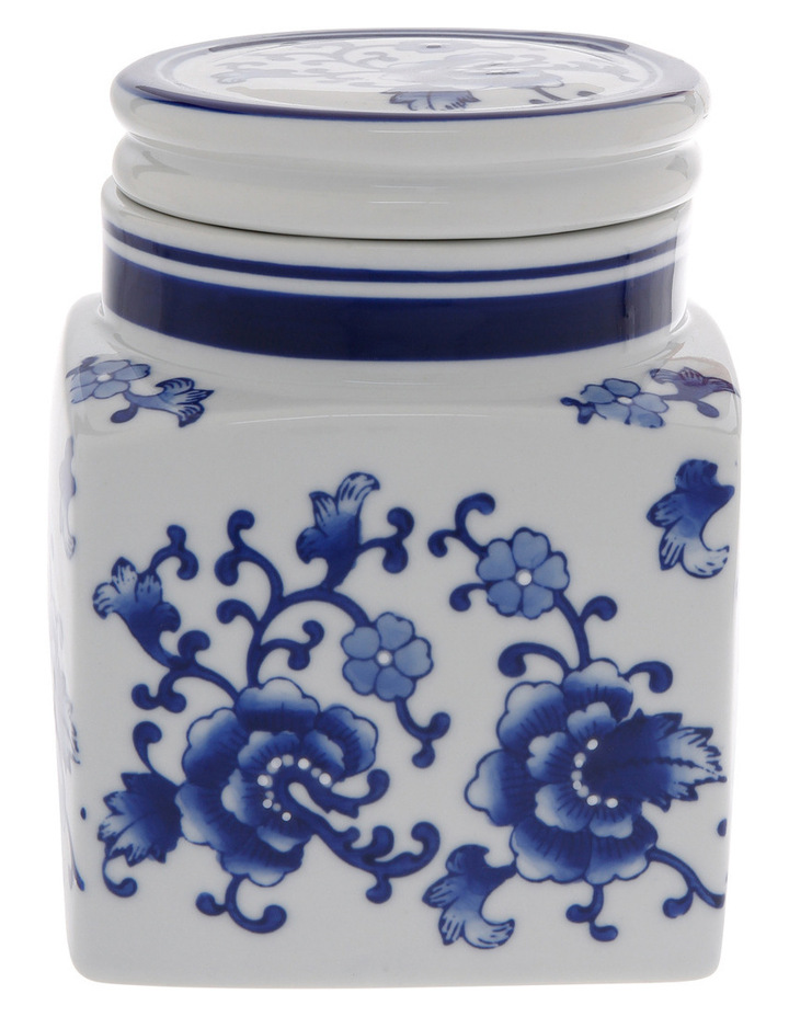 Heritage Porcelain Hand Painted Cannister White image 1