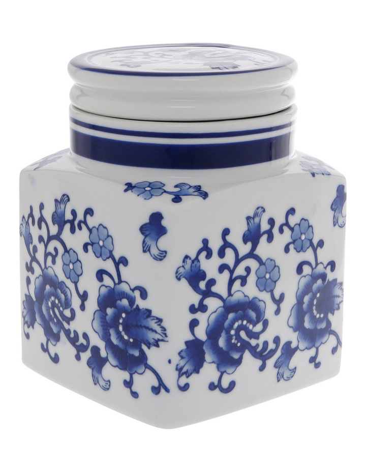 Heritage Porcelain Hand Painted Cannister White image 2