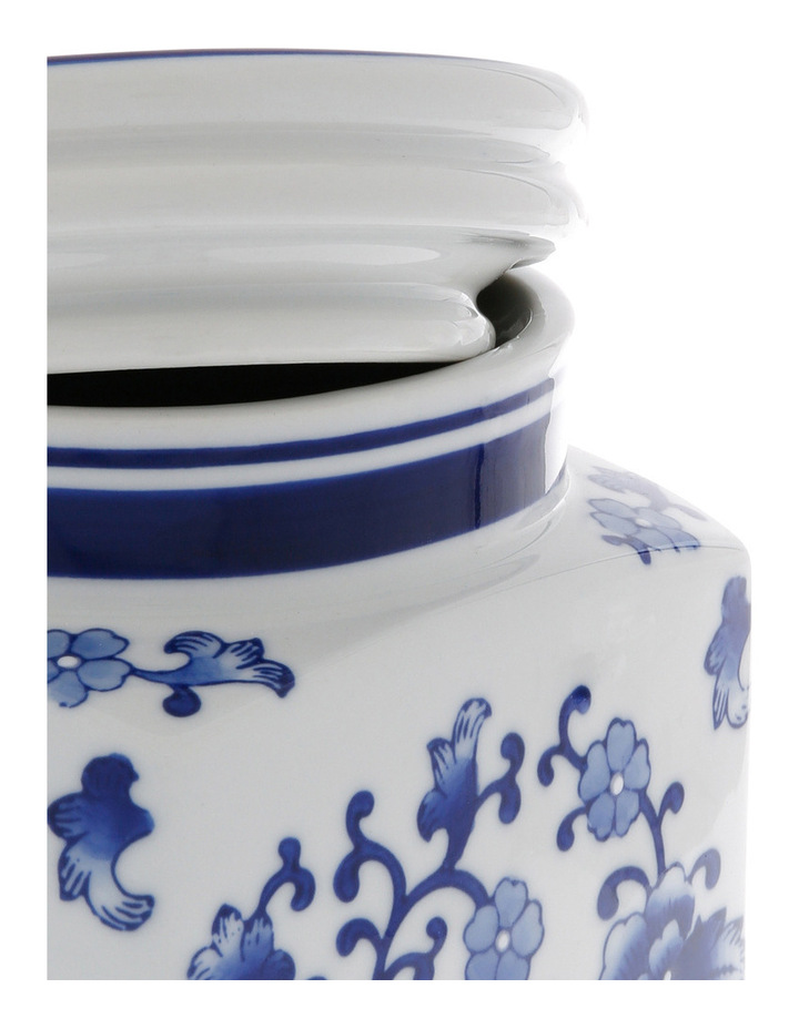 Heritage Porcelain Hand Painted Cannister White image 3