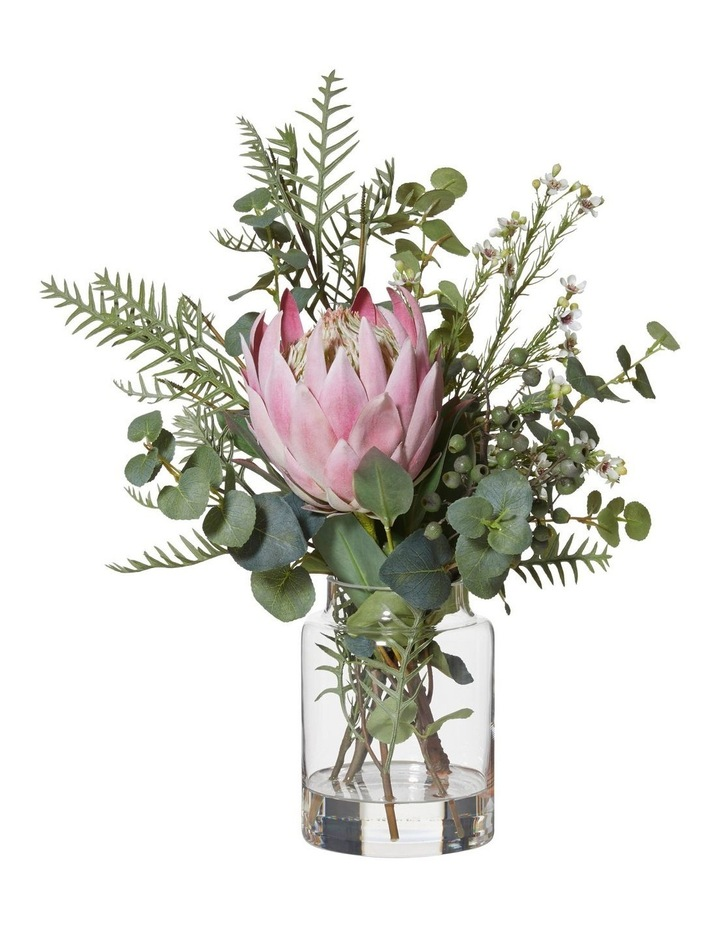 Large Native Mix Bouquet With Protea Vase Pink image 1