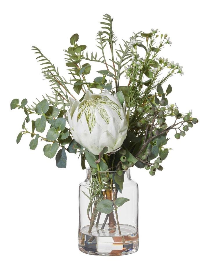AH&G Large Native Mix Bouquet With White Protea Vase 52cm image 1