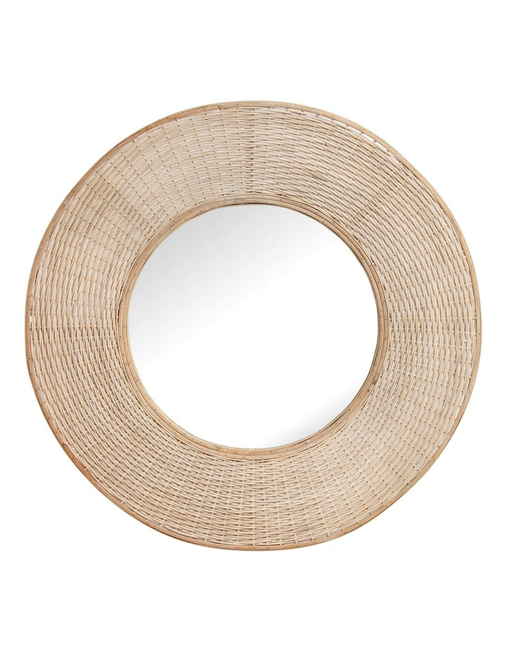 Heritage Circular Mirror With Oversized Hand Woven Bamboo Boarder 100cm image 1