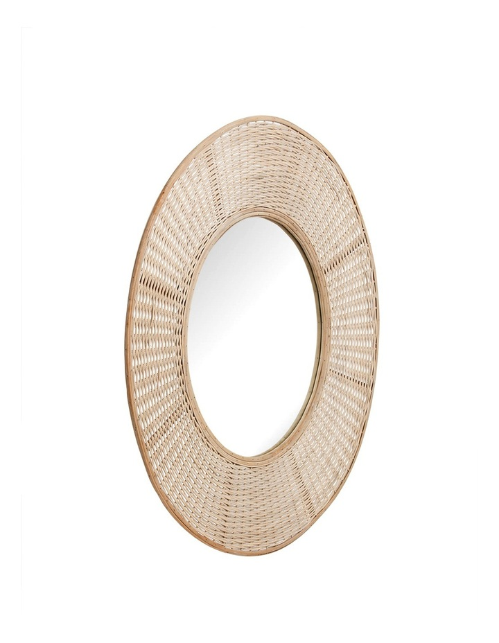 Heritage Circular Mirror With Oversized Hand Woven Bamboo Boarder 100cm image 2