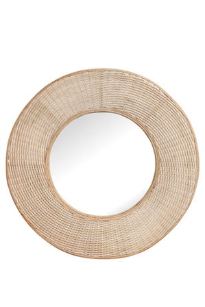 Heritage - Heritage Circular Mirror With Oversized Hand Woven Bamboo Boarder 100cm