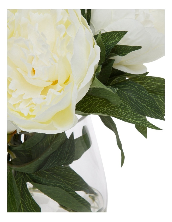 Heritage Peony in  Classic Glass Bowl White image 2