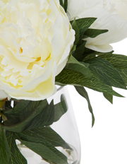 Heritage - Heritage Peony in  Classic Glass Bowl White