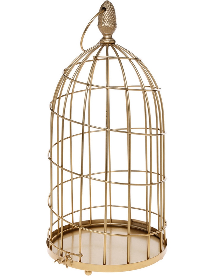 Heritage Ornamental 56cm Birdcage in Gold image 1