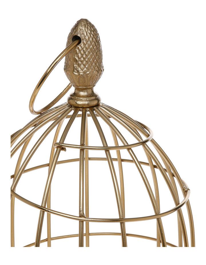 Heritage Ornamental 56cm Birdcage in Gold image 2