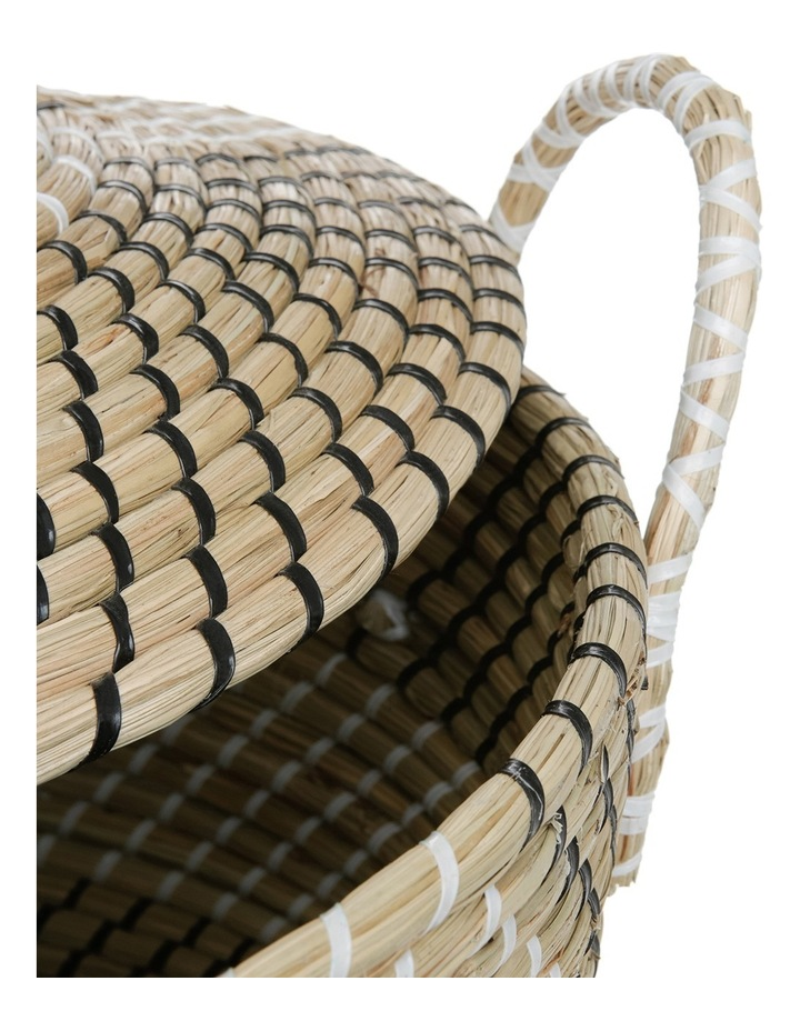 Woven Seagrass Storage Basket with Lid image 2