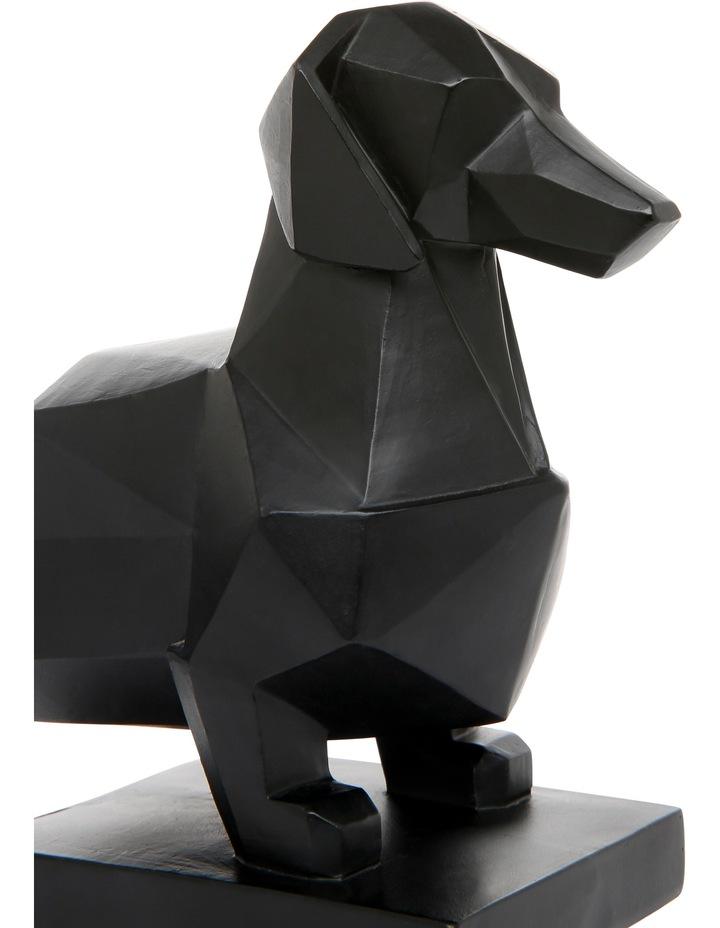 Faceted Sausage Dog Bookend Matte Black image 3