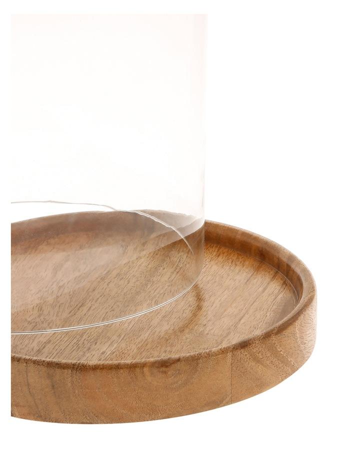 Mango Wood & Glass Cloche 35cm image 2