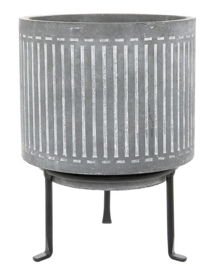 Cement Planter On Stand Medium 15.5x15.5x20.5 image 1